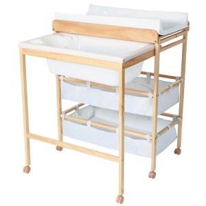 2-in-1 Wickelkommode / Wickeltisch und Babybadewanne